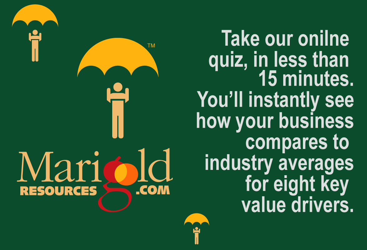 Take our online quiz in less than 15 minutes and instantly see how your business compares to industry averages for eight key value drivers.