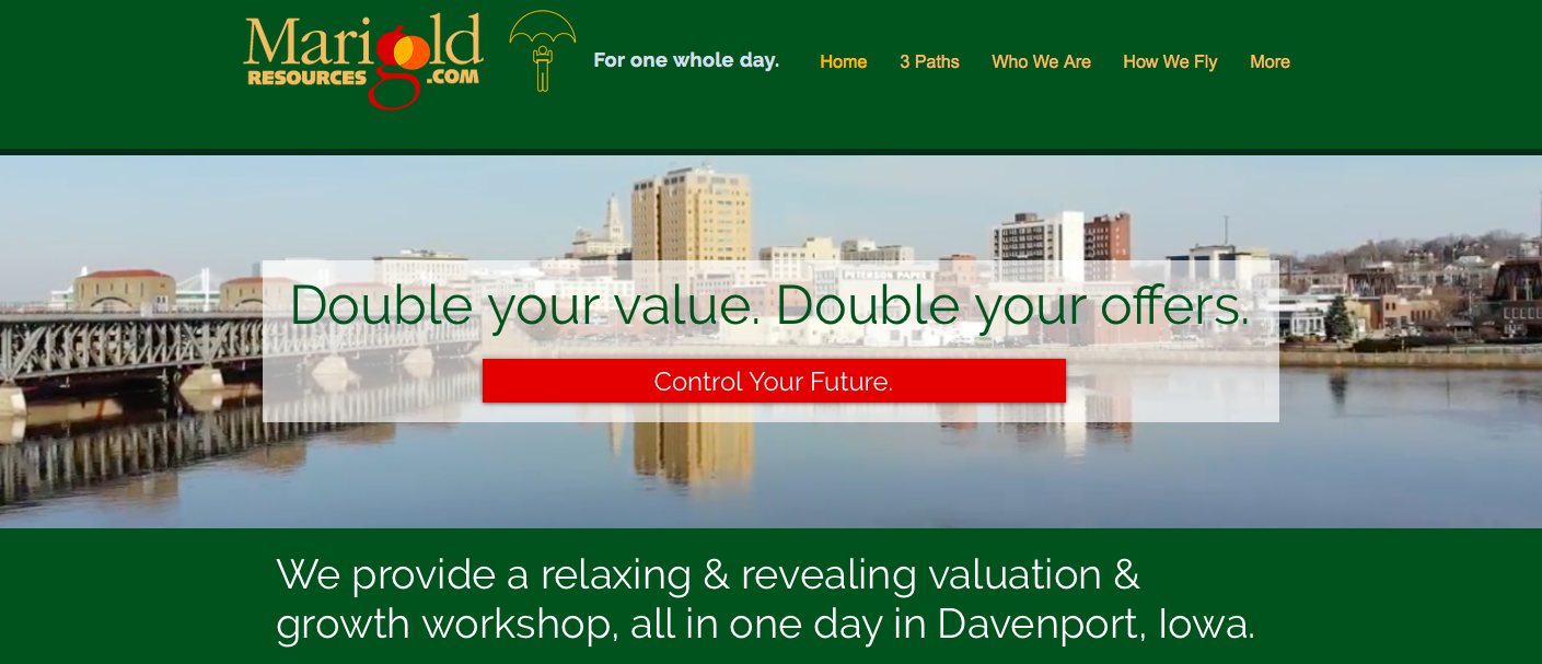 OurDayInDavenport WebsiteScreenshot